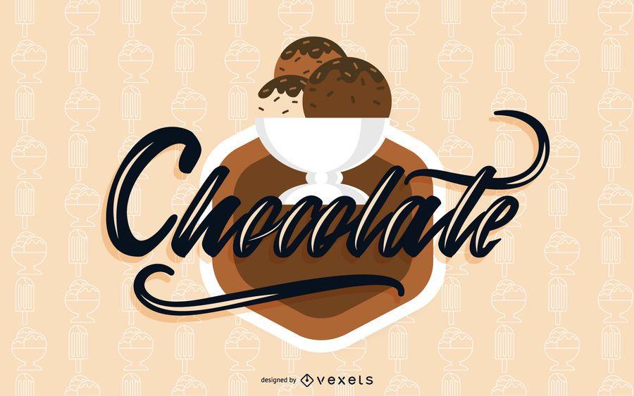 Chocolate Ice Cream Elements Vector
