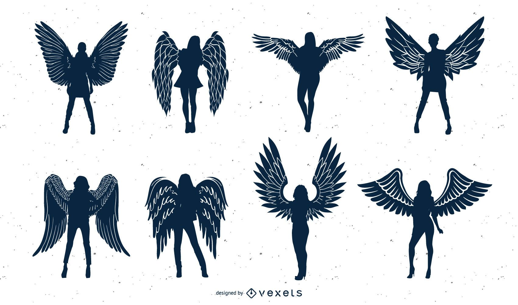 Angel Silhouette Vector Collection