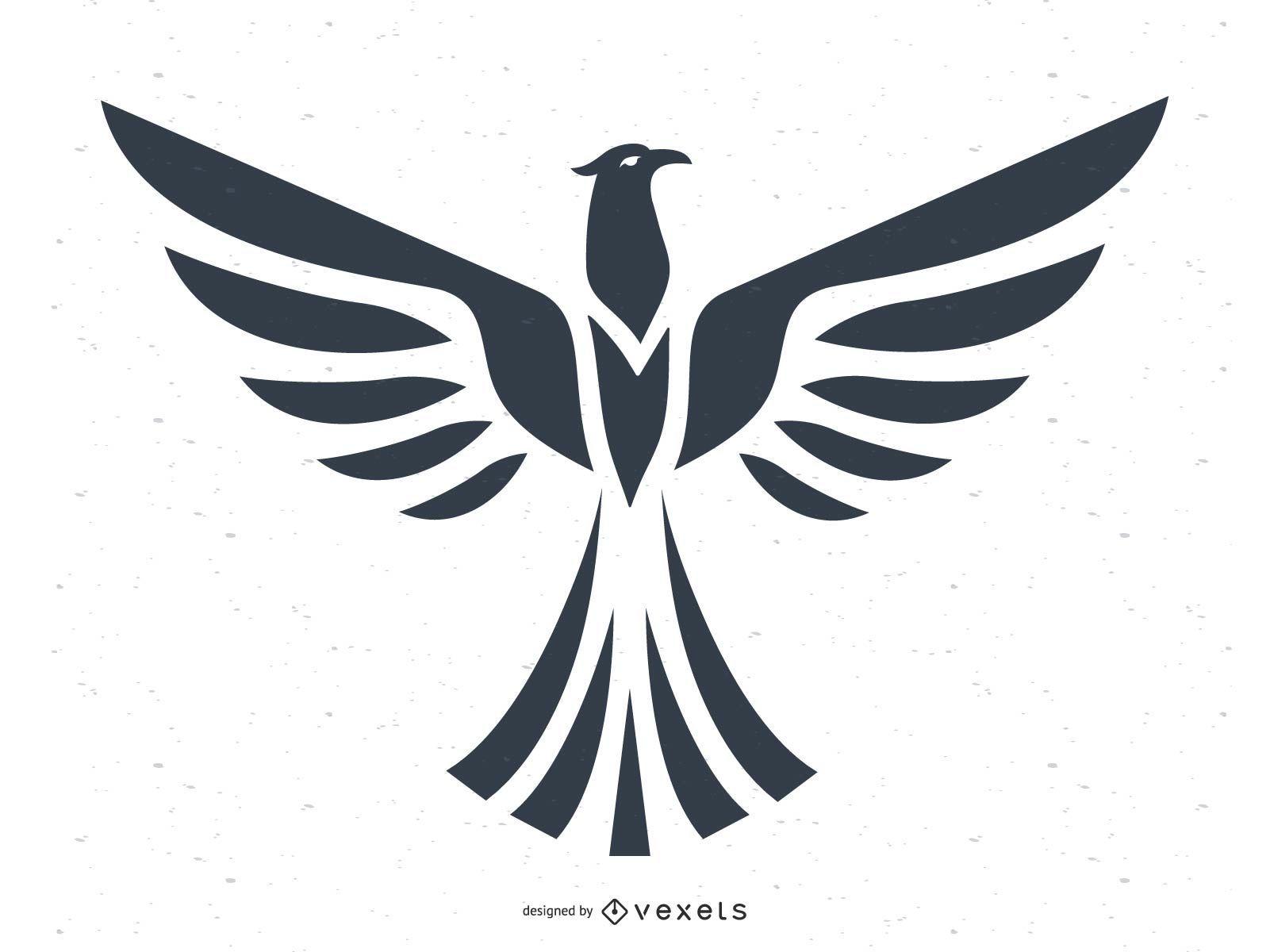 Eagle Silhouette Animal Design
