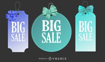 Sale Tags With Ribbon