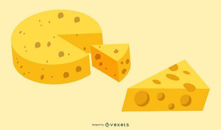 Colección de queso de vector