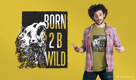 Ilustración de maqueta de camiseta con diseño