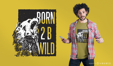 Tshirt mockup illustration with design