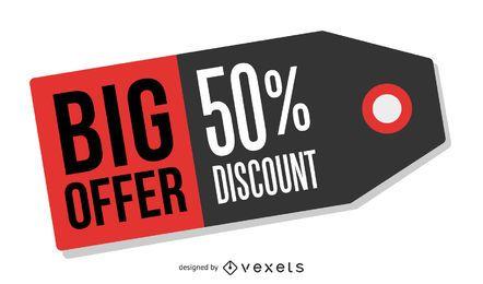 big offer tag illustration