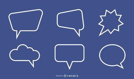 Caixa De Diálogo De Texto 03 Vector