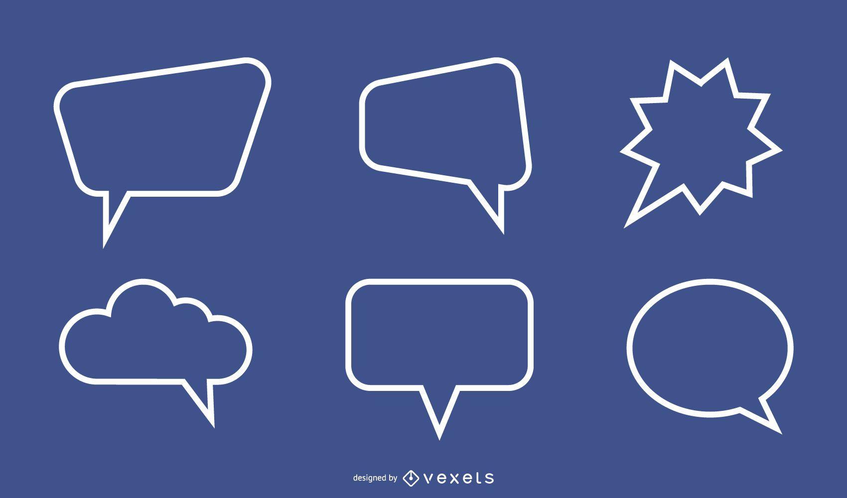 Cuadro de diálogo de texto 03 Vector