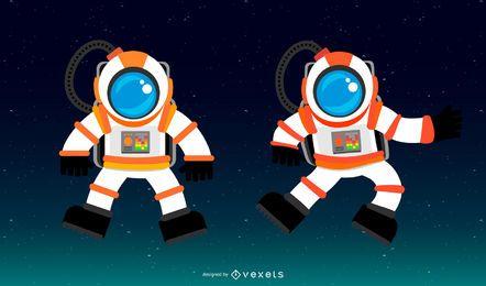 Vector de traje espacial