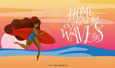 Summer Lettering Vector Design