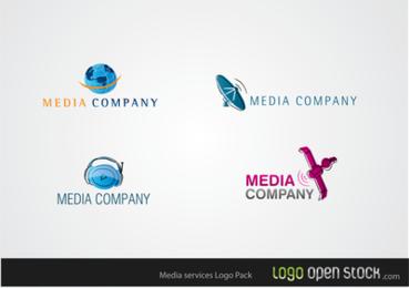Pacote de logotipos de serviços de mídia 2