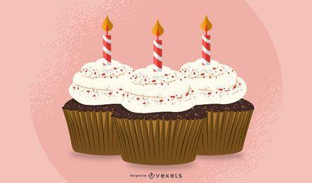 Pastel de cumpleaños 03 Vector