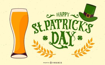 St Patrickfs Day Vector Beer Glass 2