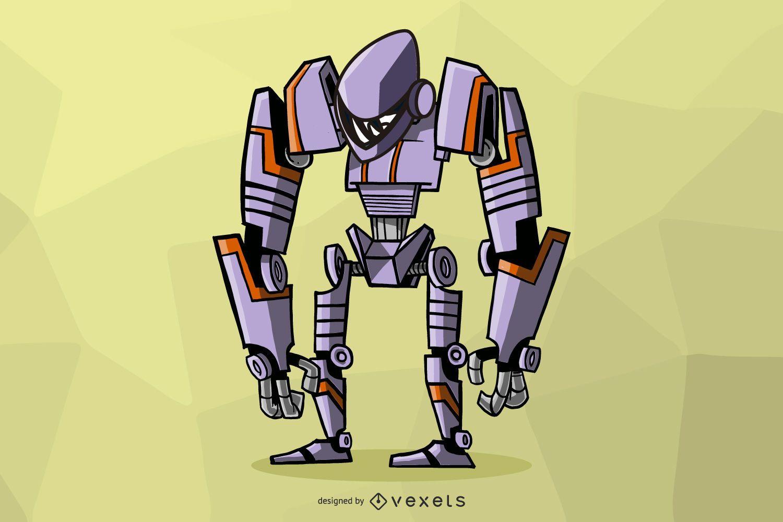 Diseño de ilustración de robot transformador