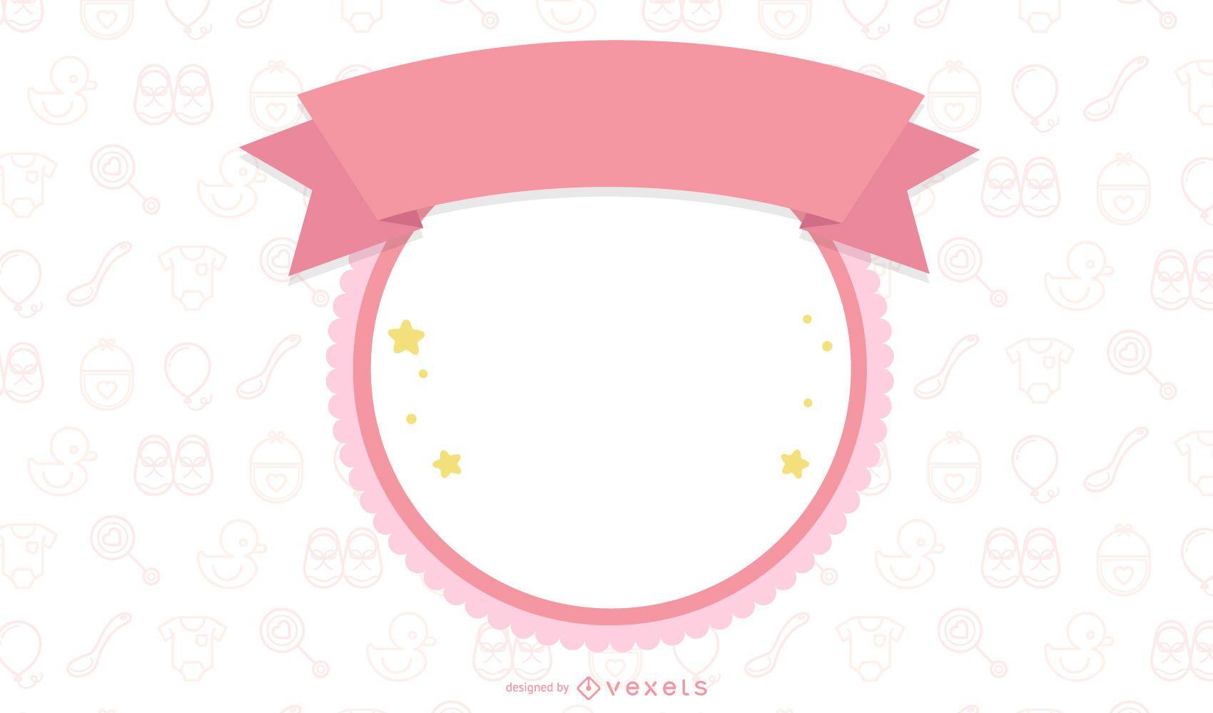 Baby Photo Frame Vector