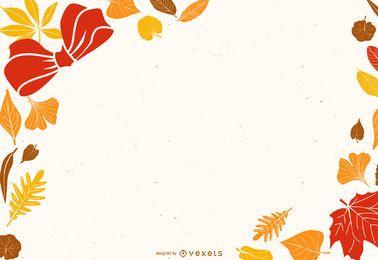 Tarjeta de hojas hermosas 02 Vector