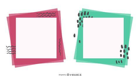 Superposición de un vector de marco cuadrado