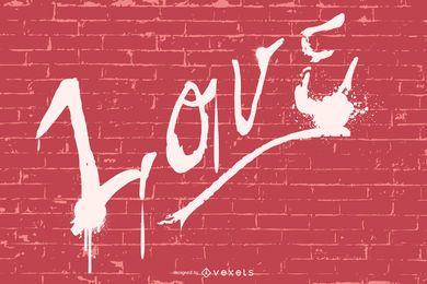 Love graffiti illustration design