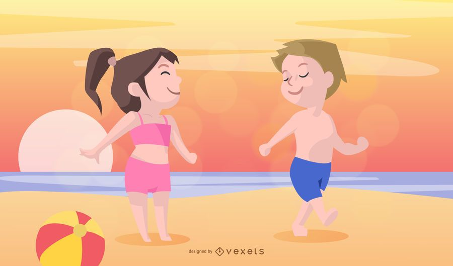 Children Summer Vacation Vector