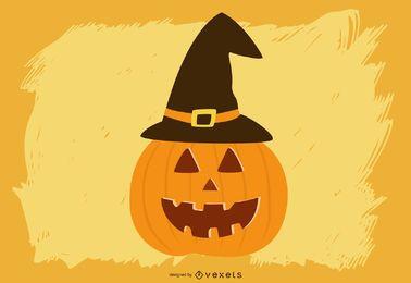 Großer geschnitzter Halloween-Kürbis