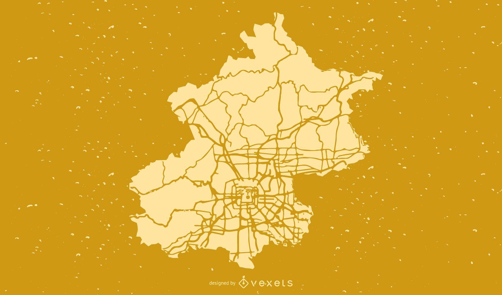 Vector de mapa de la ciudad de Beijing
