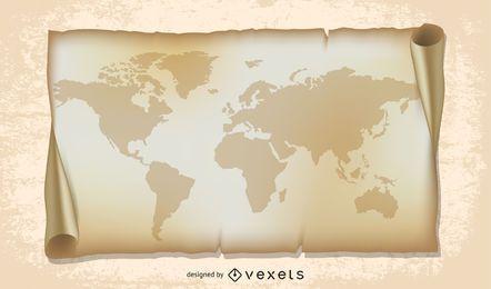 ilustración del mapa del viejo mundo