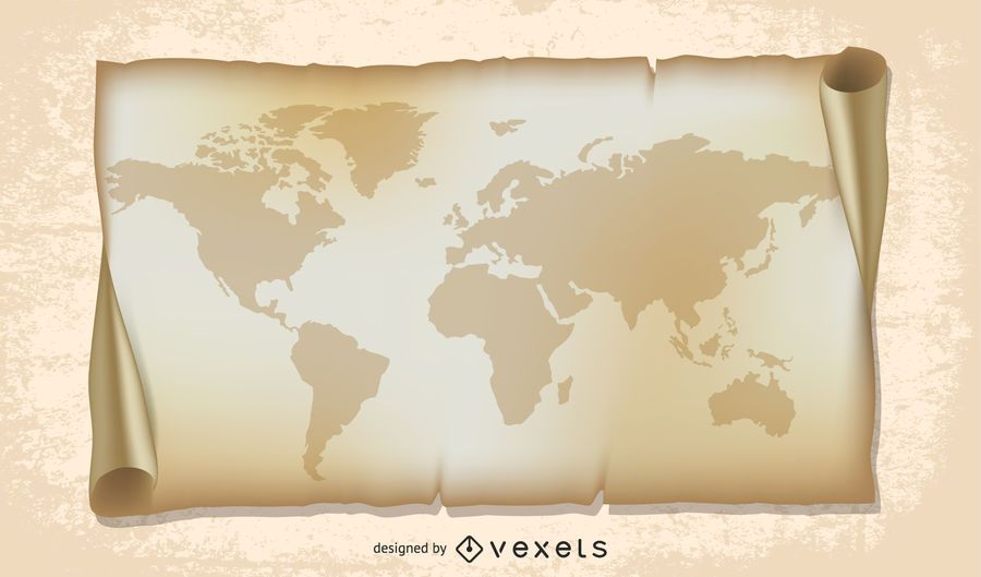 old world map illustration