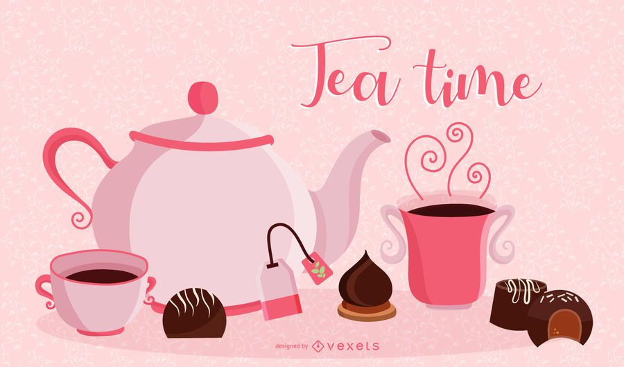 Tea time illustration design