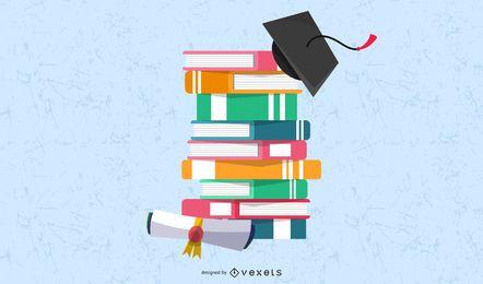 Textur Vector Caps Bücher und Dr