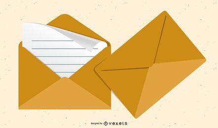 Vetor De Envelope Prático