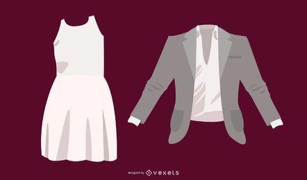 Kleidung Vorlage 19 Vektor