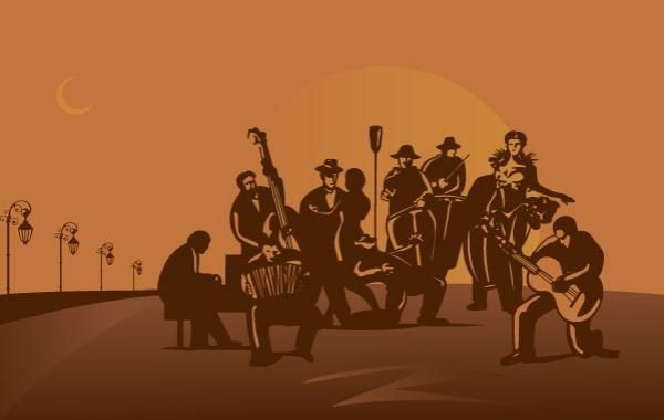 Vector de orquesta de tango