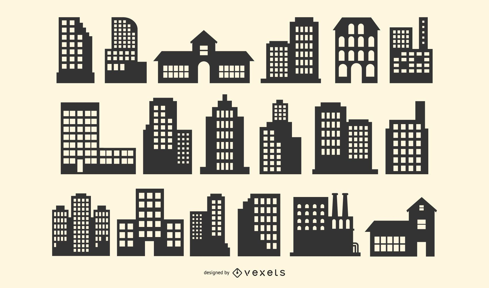 Building Silhouette Vector Pack