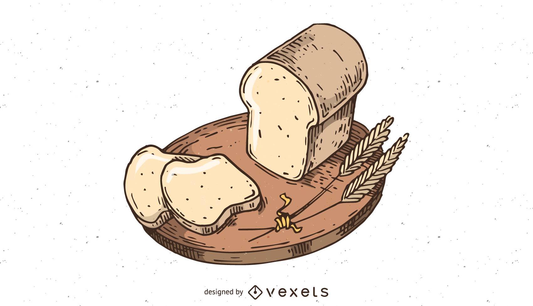 Vector de panadería