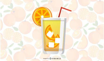 Vetor de bebida de verão raspas