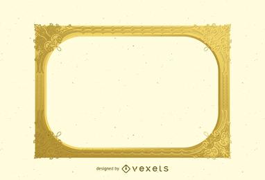 Vector de marco de oro