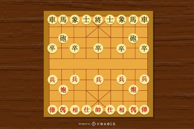 Vector de ajedrez chino