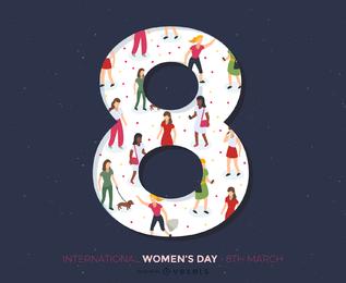 38 Mujeres Día Tema 01 Vector