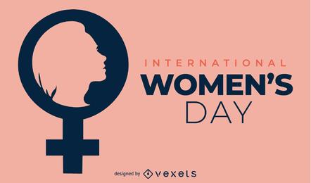Dia das mulheres tema vector design