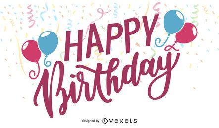 Feliz cumpleaños elementos 06 vector