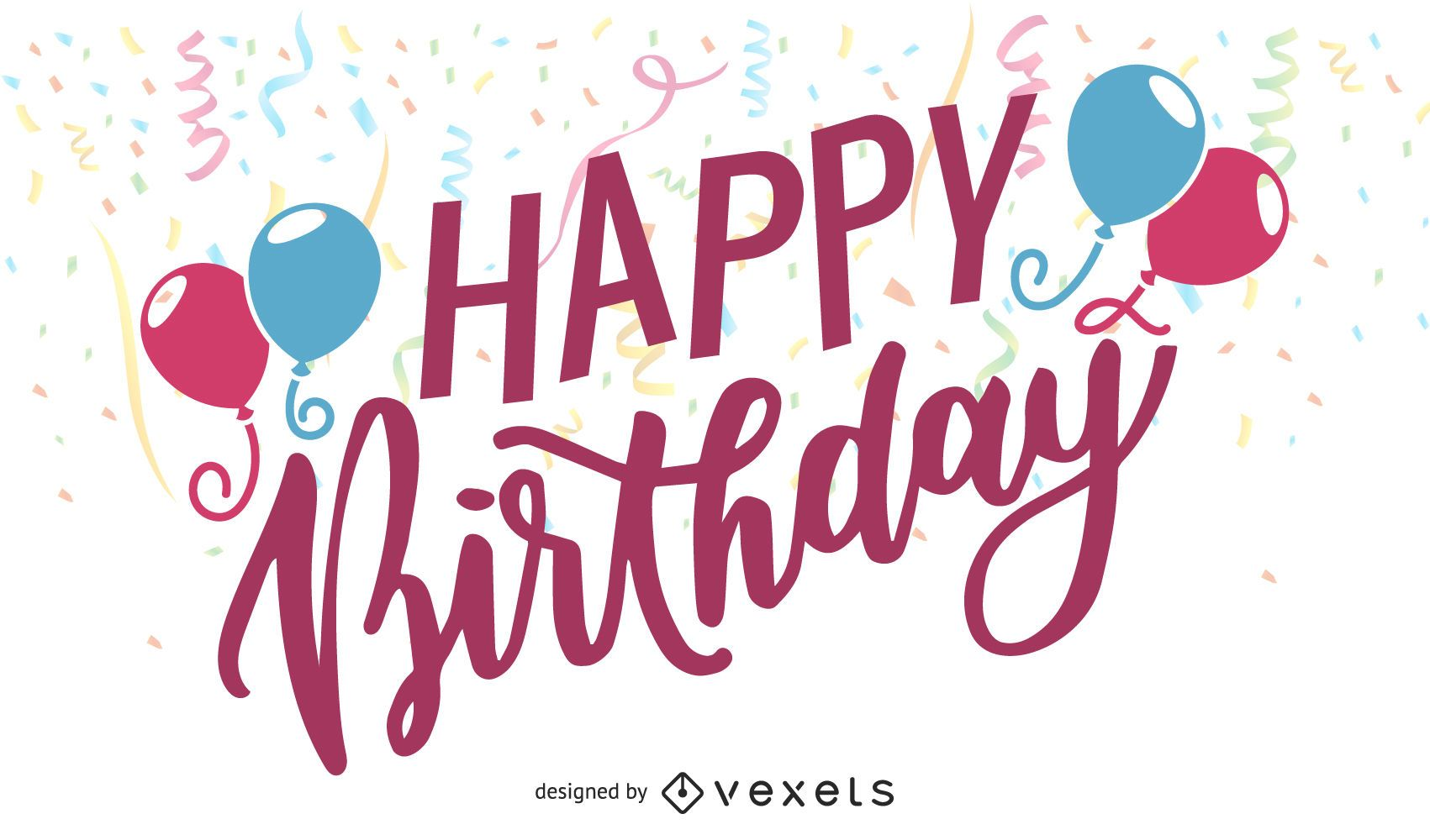 Happy birthday illustration design
