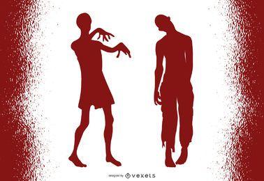 Zombies Halloween Vector