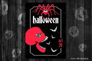 Cartaz de Halloween vetor 3
