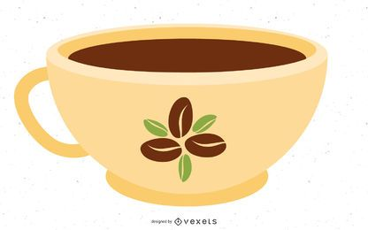 Coffee Bean Cup Vector