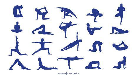 Silhuetas de ioga