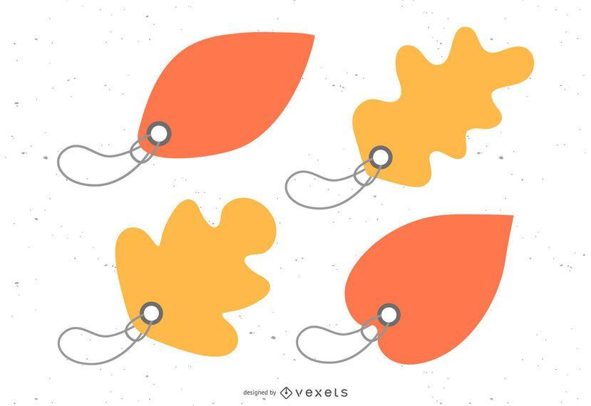 Vector Beautiful Maple Leaf Bookmark