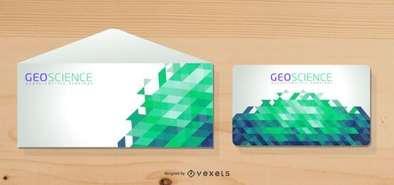 Geometric Design Envelope Mockup