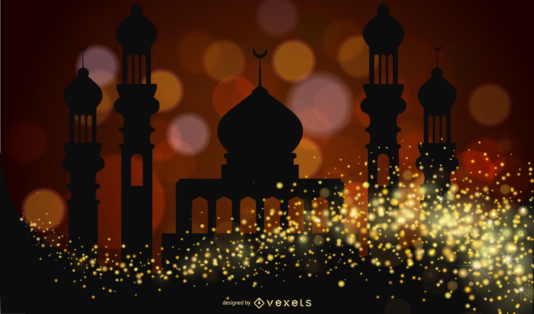 Clip de vector de castillo de estilo islámico 3