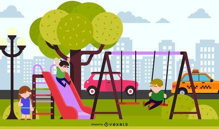 Kinder Umwelt Vektor 3