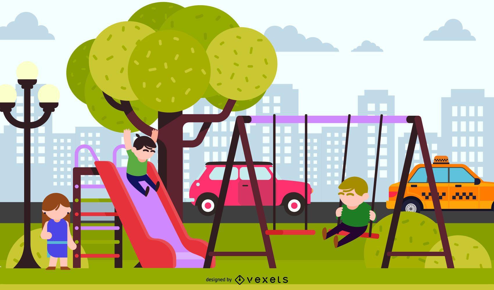 Children Environment Vector 3