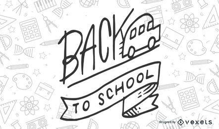 Back so school sketch illustration
