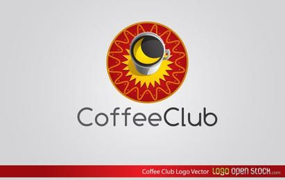 Vector de logotipo de club de café
